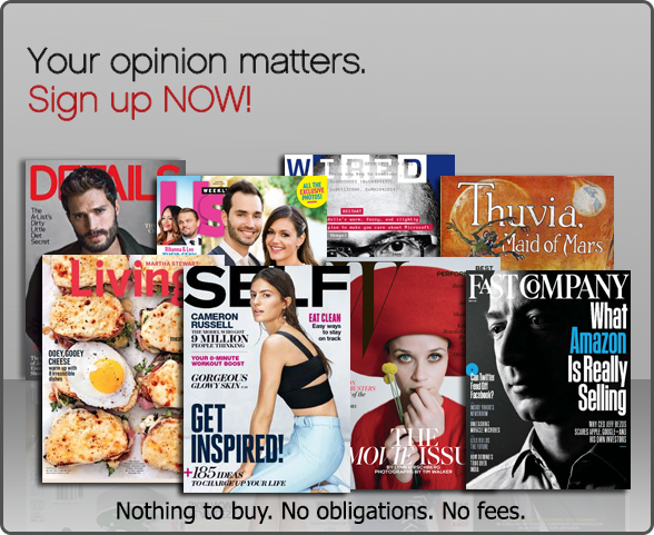 FREE Magazine Subscriptions...