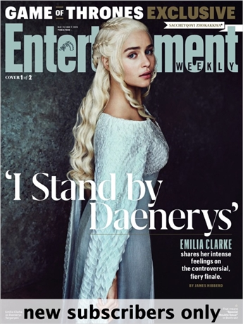 Entertainment Weekly is the premier entertainment, arts and pop culture magazine. Every issue of Entertainment Weekly keeps you up-to-date with the latest entertainment news, reviews and celebrity interviews. Only Entertainment Weekly is packed with personal close-ups and behind-the-scenes stories you can't find anywhere else!