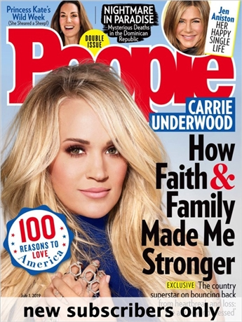 People has all of the inside news you crave about the personalities who fascinate you. Each issue is packed with amazing stories about ordinary people and their extraordinary lives, as well as the latest word on today's hottest pop culture trends.