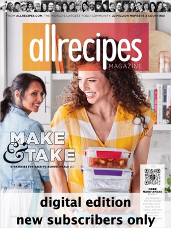 All Recipes is a new cooking magazine based on the world's largest food website of the same name. All recipes is packed with the best tried-and-true recipes, tips, and how-tos in every bimonthly issue.