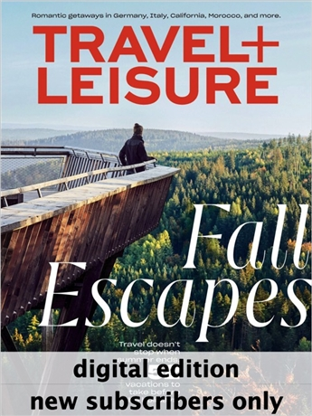 Travel + Leisure magazine is packed with upscale travel ideas, destinations and equipment. Every issue of Travel + Leisure brings you the best undiscovered destinations in the U.S. and around the world, great deals on plane tickets, hotel reservations and car rentals, honest restaurant recommendations, insider travel tips and tricks from the pros and so much more. Visit exotic locations, cozy bed and breakfasts and enchanting secluded spots. Save money on every trip. Never be disappointed again. Travel the world in luxurious comfort with Travel + Leisure.