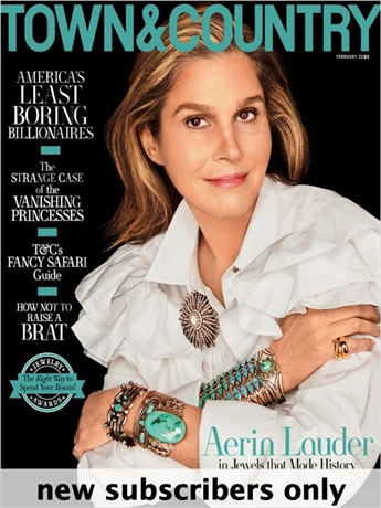 America's premier lifestyle publication, Town & Country magazine is an elegant monthly that shares and shapes its reader's discerning tastes in fashion, travel, design, beauty, health and the arts and antiques.