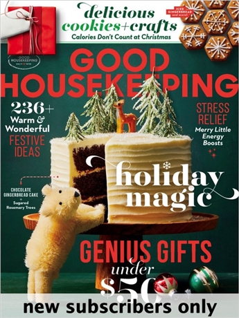 Good Housekeeping knows how fast-paced your life can be, and how challenging it is to balance family, home life, and time for yourself. You'll get easy beauty and anti-aging tips, haircut pictures and ideas, diet plans, expert product reviews, quick, triple-tested recipes, and much more in every issue.